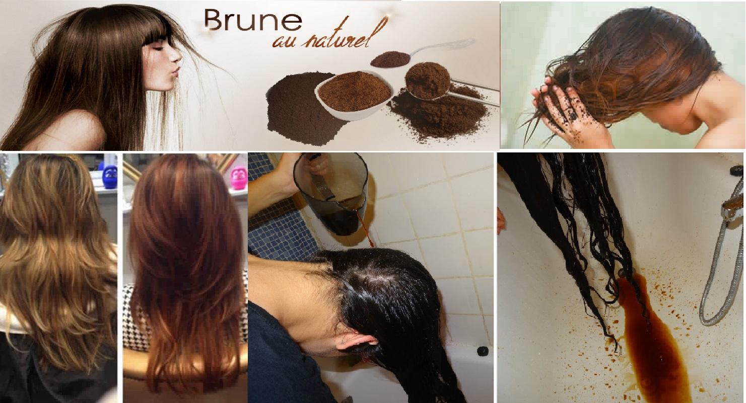 Coloration cheveux au cafe