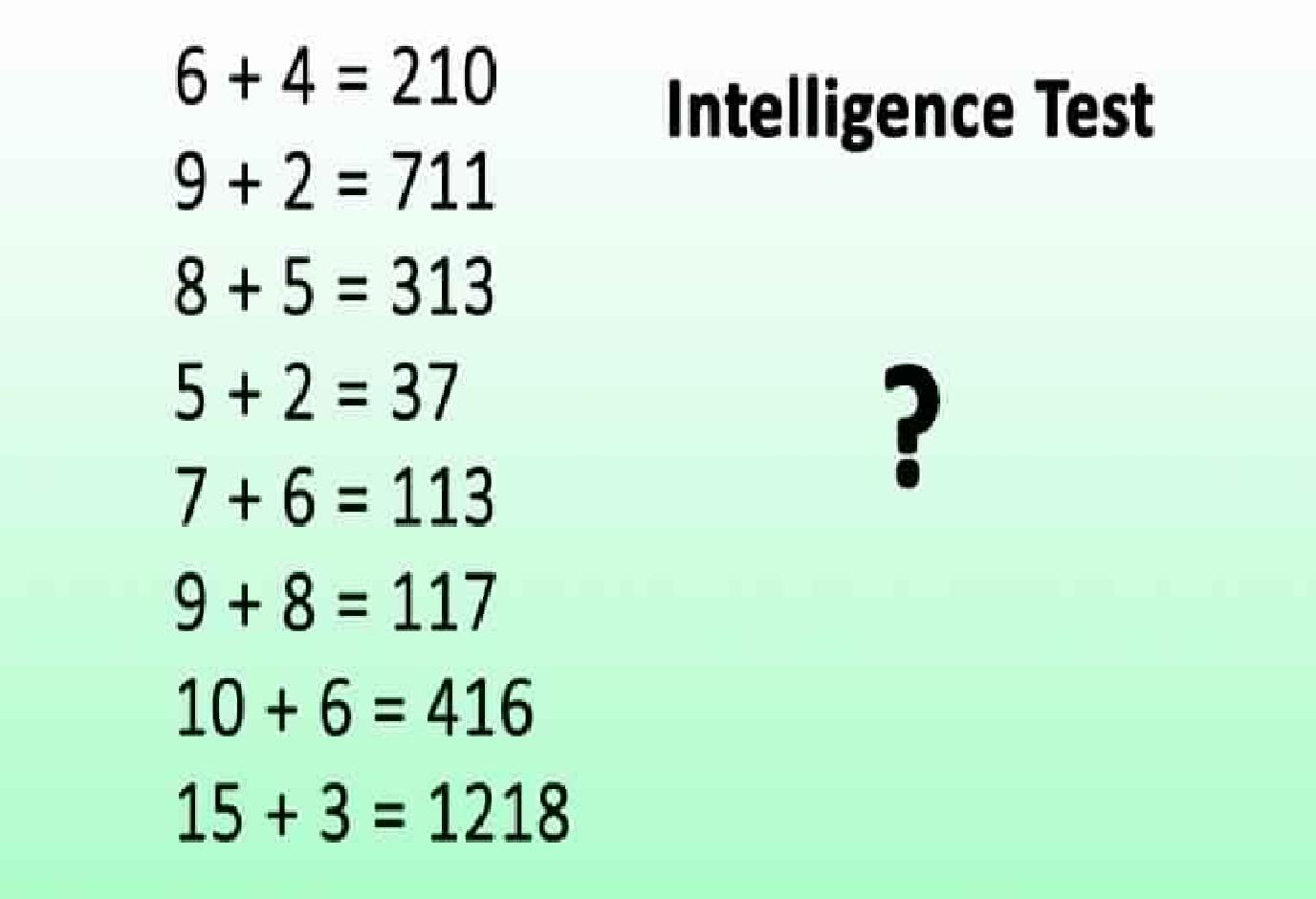 êtes vous un génie résolvez ce problème et découvrez si votre qi est supérieur à 150